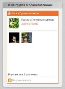 """Виджет """"Мы в Одноклассниках"""""""