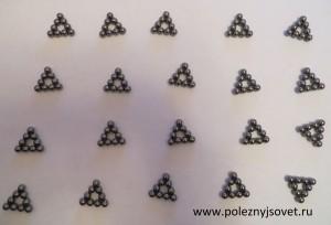 20 треугольников из 9 шариков неокуба